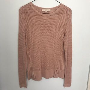 Ann Taylor Rose Gold Knit Sweater - XSmall